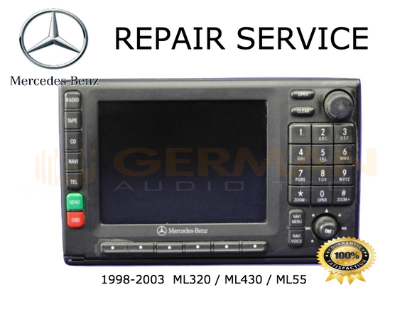 Repair Service for 1998 - 2003 Mercedes Benz ML320 ML430 ML55 Navigation Radio