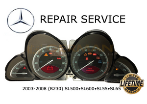 Repair Service for 2003 2004 2005 Mercedes Benz Speedometer Cluster Illumination R230 SL500 SL600 SL55 SL65