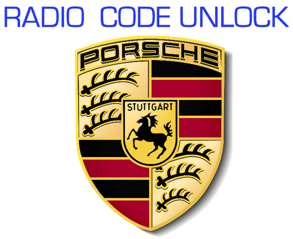 CODE RETRIEVAL UNLOCK SERVICE for PORSCHE CR220 CDR220 RADIO CD PLAYER BECKER DECODE