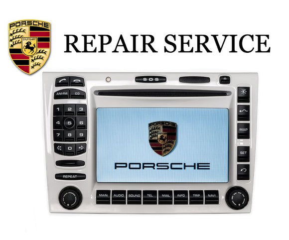 LCD Replacement Repair Service for Porsche 996 997 PCM 2.1 Navigation Radio