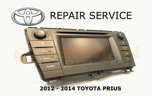 LCD REPLACEMENT SERVICE FOR TOYOTA PRIUS V NAVIGATION RADIO MONITOR DISPLAY LCD 2012 2013 2014