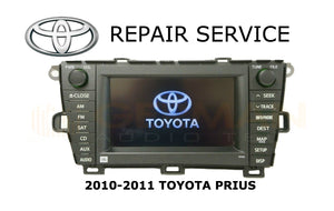 LCD REPLACEMENT SERVICE for TOYOTA PRIUS E7022 NAVIGATION RADIO MONITOR DISPLAY LCD 2010 2011