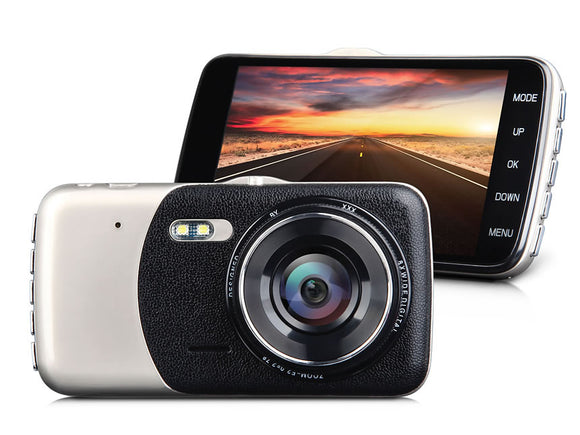 High Resolution 4'' HD IPS Screen Dual-lens Dashcam Eonon