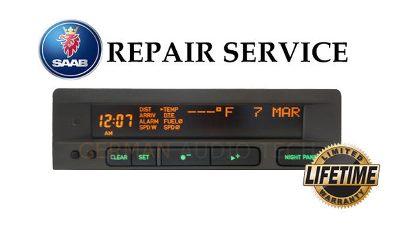 PIXEL REPAIR SERVICE for SAAB 95 SID1 and SID2 INFORMATION RADIO DISPLAY