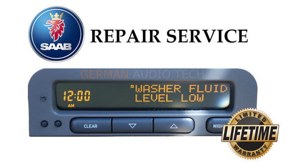 PIXEL REPAIR SERVICE for SAAB SID1 INFO DISPLAY CLOCK