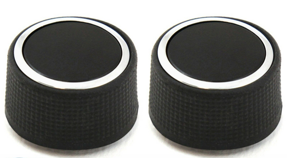 (2) Rear Control Knobs Audio Radio Escalade Enclave Tahoe Chevrolet GMC Pair Set