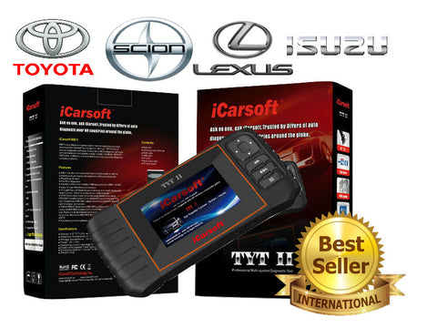 New iCARSOFT TOYOTA TYTII LEXUS SCION ISUZU OBD2 DIAGNOSTIC FAULT CODE SCAN TOOL