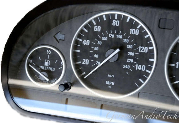 SILVER GAUGE RINGS for BMW E38 7-Series E39 5-Series E53 X5 SPEEDOMETER CLUSTER