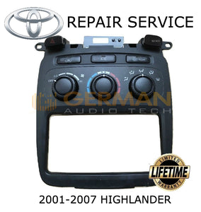 Repair Service for Toyota Highlander Climate Control 2001 2002 2003 2004 2005 2006 2007