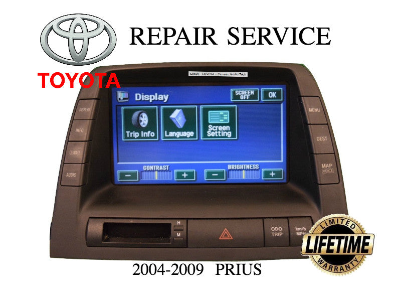TOYOTA PRIUS HYBRID NAVIGATION LCD DISPLAY TOUCH SCREEN 2006 2007 2008 2009