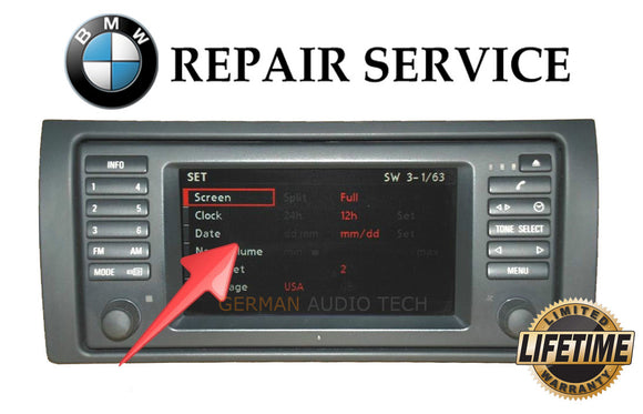 LCD REPLACEMENT SERVICE for BMW E38 740 E39 M5 E53 X5 16:9 WIDE SCREEN NAVIGATION MONITOR