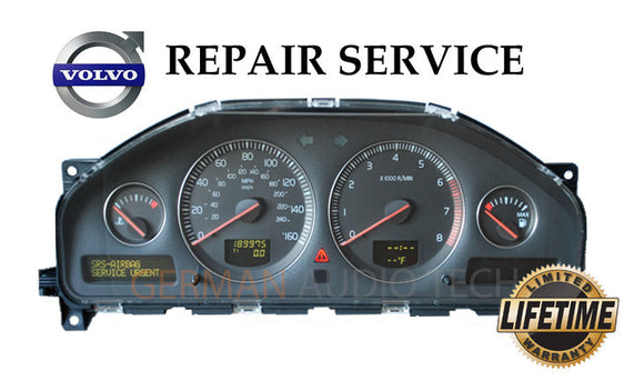 Repair Service for 2002 - 2007 Volvo Instrument Speedometer Cluster XC70 V70 S60