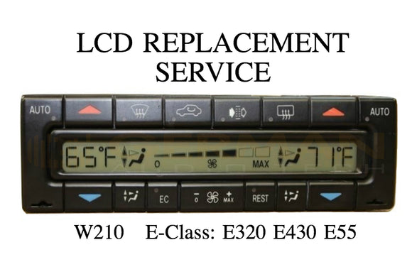 LCD Replacement Service for Mercedes-Benz W210 E-Class E320 E430 E55 1996-2003