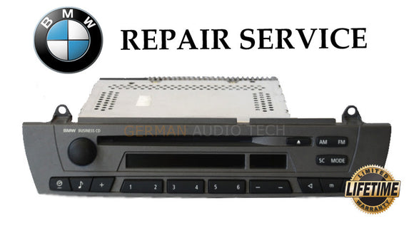 REPAIR SERVICE for BMW X3 Z4 BUSINESS CD PLAYER RADIO STEREO E83 E85 2002 03 04 05+