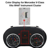 Color Odometer LCD Display for Mercedes V-Class Vito W447 Instrument Cluster