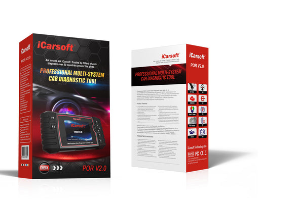 iCarsoft POR V2.0 OBD2 Diagnostic Scanner Tool for Porsche/Cayenne/Carrera/Cayman/Boxster/Macan