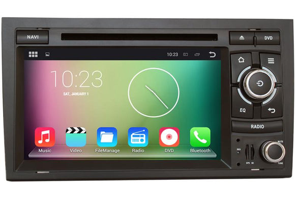 Android Multimedia Radio GPS CD DVD Stereo Head Unit For Audi A4 S4 B6 B7 RS4 RNSE