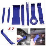 7x CAR TRUCK RADIO DOOR CLIP PANEL TRIM DASH AUDIO REMOVAL PLASTIC PRY TOOL KIT