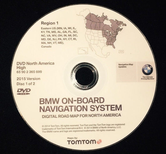 NAVIGATION DVD SET for BMW MINI UPDATE HIGH VERSION WEST & EAST - Rear Load
