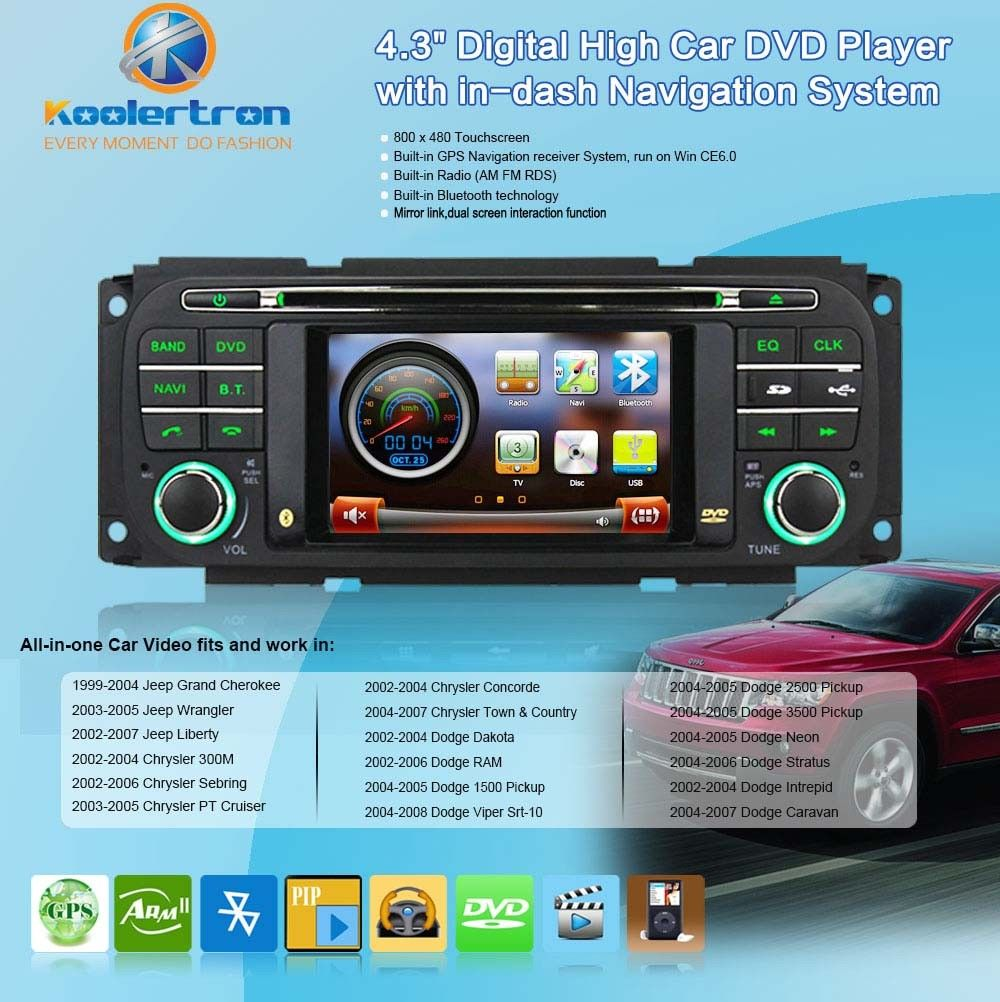 Android DVD GPS Radio Navigation For 2002-2006 Jeep Grand