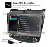 "10.1"" Android 10 Car GPS Stereo Radio 8-Core 4+64GB For Honda Accord 2003-2007"