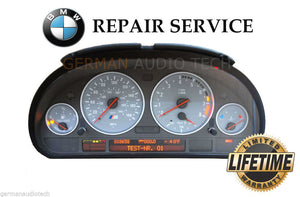 REPAIR SERVICE for BMW 2000-2003 E39 M5 INSTRUMENT SPEEDOMETER CLUSTER PIXEL DISPLAY