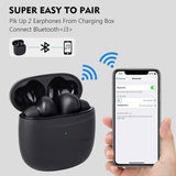 Bluetooth Earphones 5.2 Wireless Earbuds IPX7 Waterproof LED Noise Cancelation for iPhone Android