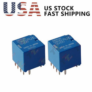 2PCS Genuine Omron G8ND-2U G8ND-2UK Relay for Renault BMW X5/X6 12VDC 25A US