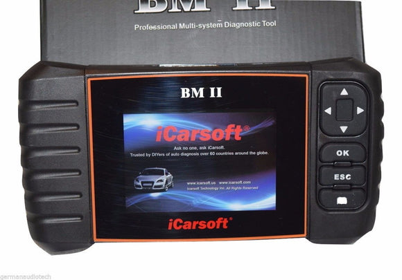 New iCARSOFT BMII for BMW MINI OBD2 DIAGNOSTIC SCANNER TOOL OIL ERASE FAULT CODES