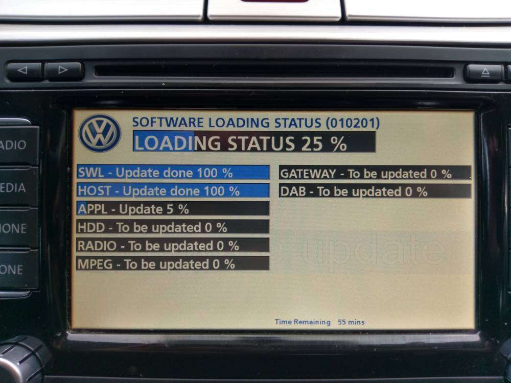 firmware update v15 v5238 for volkswagen vw skoda rns510. Black Bedroom Furniture Sets. Home Design Ideas