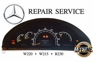 REPAIR SERVICE for MERCEDES BENZ W220 W215 R230 INSTRUMENT GAUGE CLUSTER ILLUMINATION BACK LIGHTING