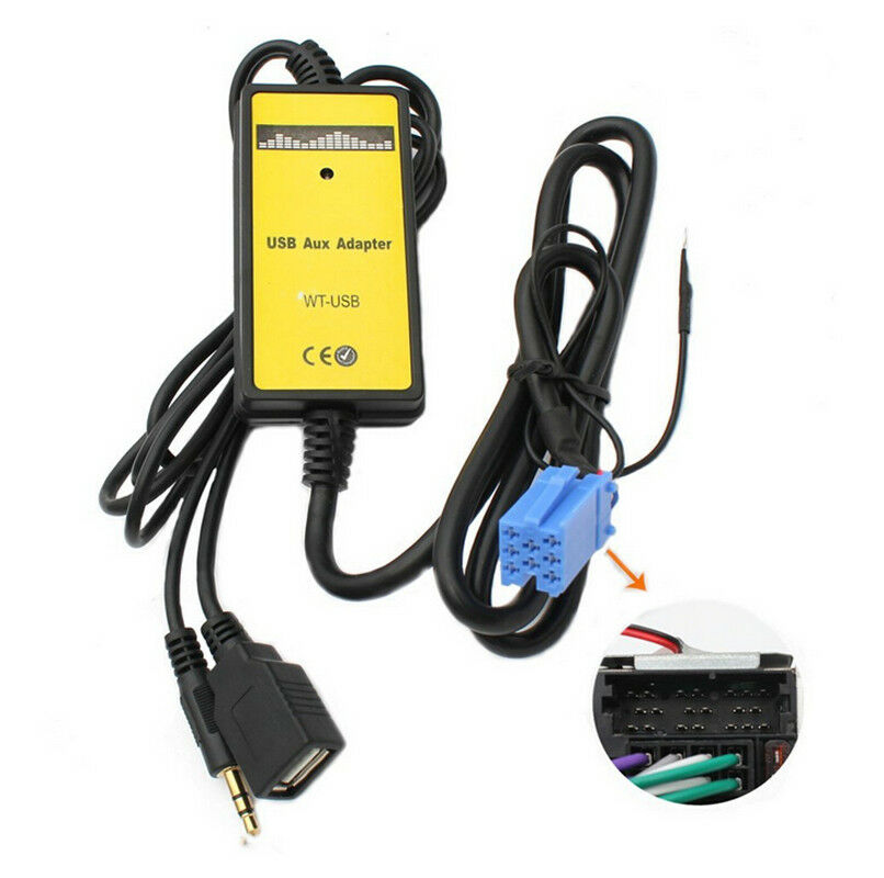 Car Interface USB Mp3 AUX IN Adapter Audio Digital Music