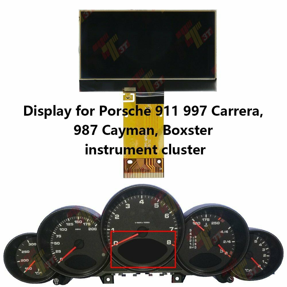 Center LCD Display for Porsche 911 997 Carrera, 987 Cayman