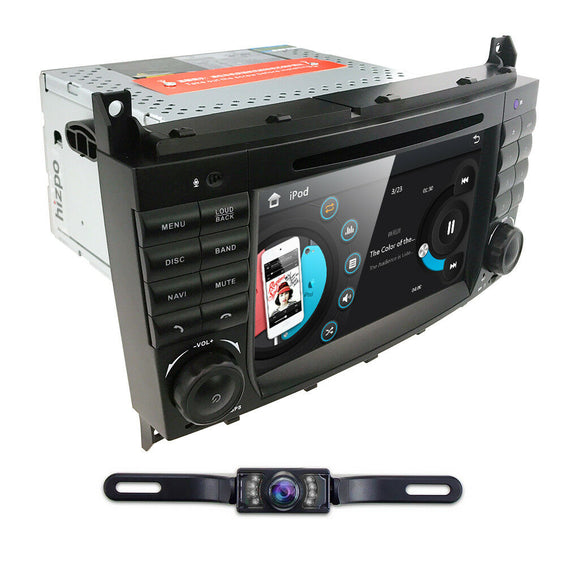 Android Multimedia Navigation Radio for Mercedes Benz C CLK W203 W209 CD DVD GPS Backup Camera