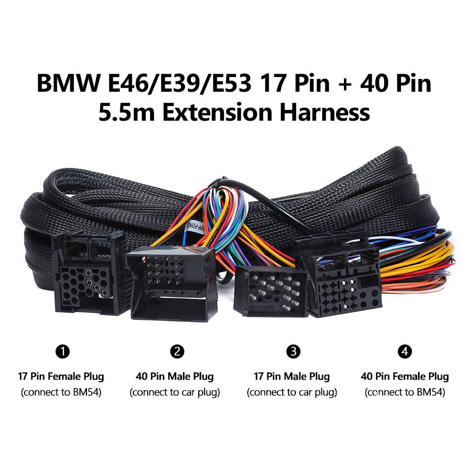 A0582 Bmw E46  E39  E53 Extended Wiring Harness 17pin 40pin For Ga9150b  U2013 German Audio Tech