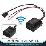 Bluetooth Module for BMW E85 E83 E39 E46 E53 Radio CD Head Units AUX Port Adapter