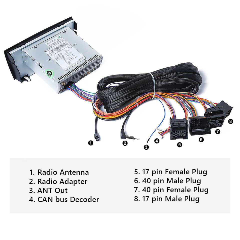 A0582 BMW E46/E39/E53 Extended Wiring Harness 17Pin 40Pin for GA9150B –  German Audio Tech