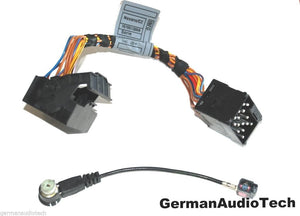 BMW ROUND to FLAT PIN RADIO + ANTENNA ADAPTER HARNESS CABLE E39 M5 E53 X5