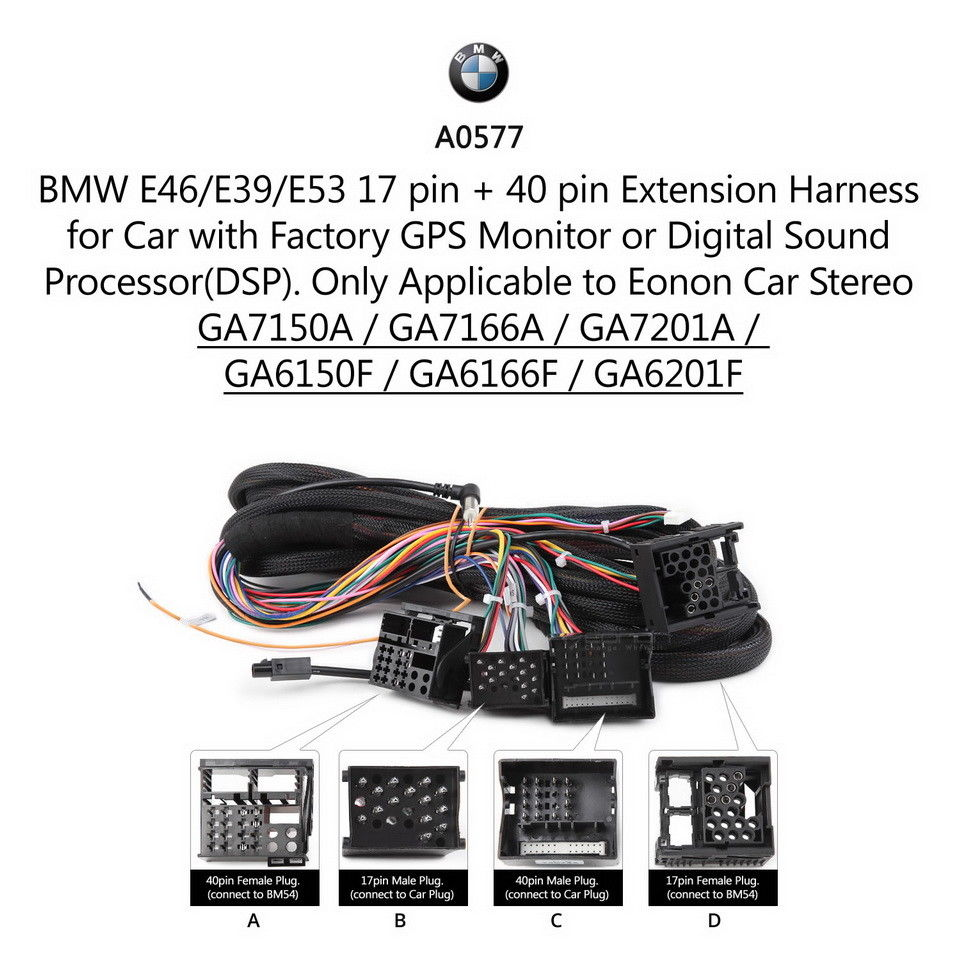 Extension Cable for BMW E46 3-Series E39 5-Series E53 X5
