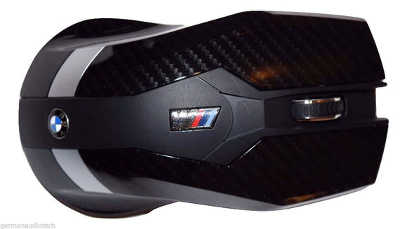 Genuine BMW ///M CARBON FIBER WIRELESS LASER OPTICAL MOUSE for PC MAC APPLE COMPUTER