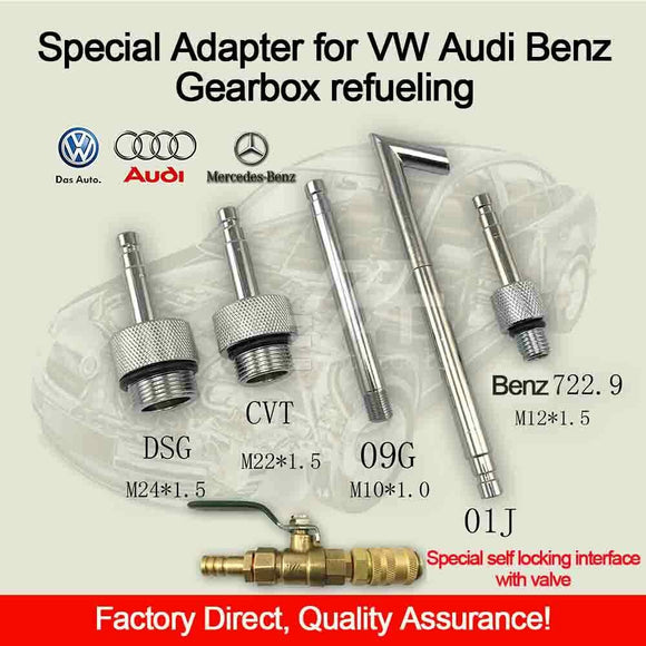 New VW Audi DSG 01J CVT 09G Benz 722.9 Gearbox Reueling pots Adapter Connector