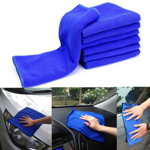 3x Blue Microfiber Absorbent Towel Car Washing Cleaning Cloth