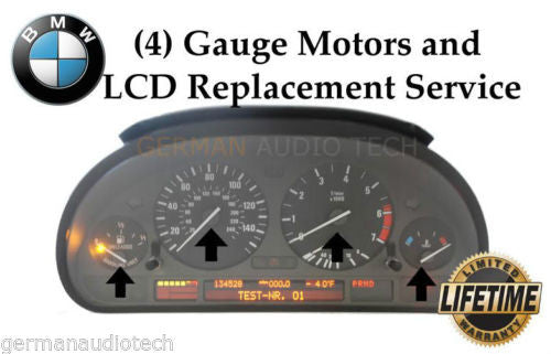 Stepper Gauge Motor Repair Service for BMW E39 5-Series E53 X5 E38 7-Series Instrument Speedometer Cluster