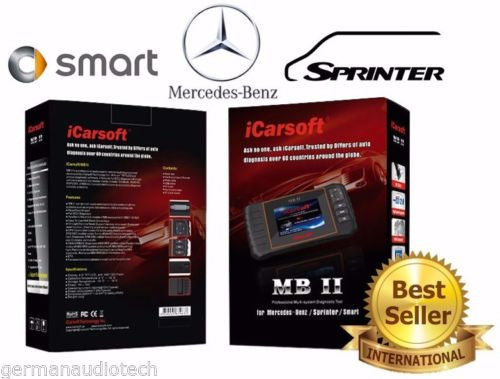 New iCARSOFT MBII for MERCEDES-BENZ SPRINTER SMART OBD2 DIAGNOSTIC SCANNER TOOL SERVICE RESET ERASE FAULT CODES