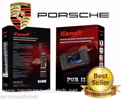 iCarsoft POR II For PORSCHE OBDII ECU Diagnostic SRS ABS Airbag Code Reset Tool