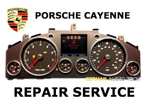 REPAIR SERVICE for PORSCHE CAYENNE TOUAREG INSTRUMENT SPEEDOMETER CLUSTER DARK COLOR LCD DISPLAY 2004 - 2010