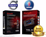 New  iCARSOFT VOLII for SAAB VOLVO OBD2 NEW DIAGNOSTIC SCANNER TOOL ERASE FAULT CODES SERVICE RESET