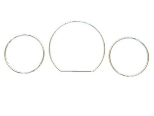 Chrome Gauge Rings for Mercedes Benz W208 W210 CLK E-Class Instrument Cluster