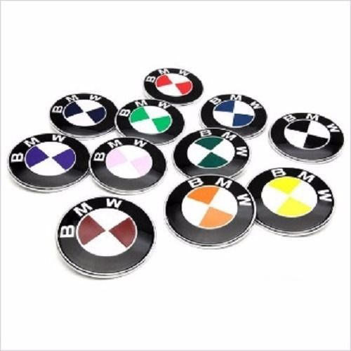 Roundel Decal Overlays Set for BMW Badge Wheel Trunk Logo