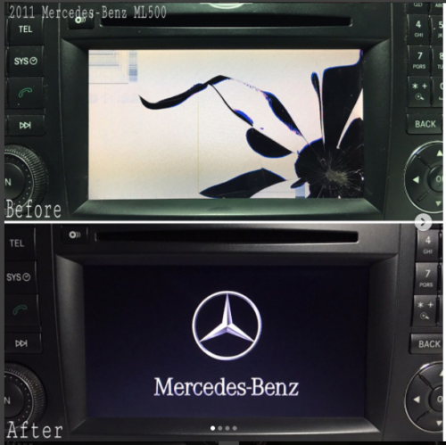 LCD REPLACEMENT SERVICE For MERCEDES COMAND NAVIGATION